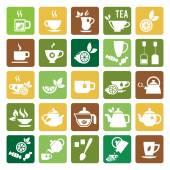 Tea Time Icons — Stock Vector