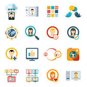 Flat Special Media Icons — Stock Vector