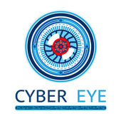 Creative Cyber Eye Logo — ストックベクタ