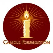 Burning candle logo — Vetorial Stock