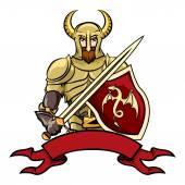 Vector cartoon knight — Vettoriale Stock