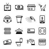 Vector bills icons — Stock Vector