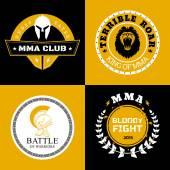 MMA Battle Logos or Badges Designs — Stock Vector