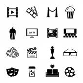 Black and White Movie Icon Designs — Vetorial Stock
