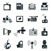 News and Media Icons — Stock Vector
