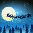 Christmas background with Santa driving his sleigh — Stock Vector #58882161