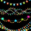 Colorful Christmas Lights Garlands — Stock Vector #58882379