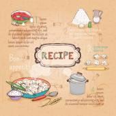 Food ingredients recipe — Stock Vector