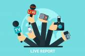 Live report concept — Stock Vector