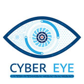 Cyber eye icon — Stock Vector