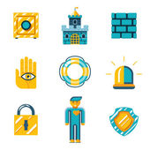 Colored Safety and Insurance Icons — Stock Vector