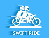 Swift ride — Stock Vector