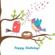 Birthday postcard — Stock Vector #59390169