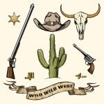 Wild West Elements — Stock Vector #59392179