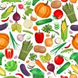 Vegetable organic food seamless background — Stock Vector #59392293