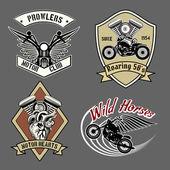 Vintage motorcycle labels — Stockvektor