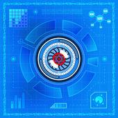 Biometric technology eye — Stock Vector