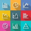 Business outline Charts and Graph Icons — Stock Vector #60342963