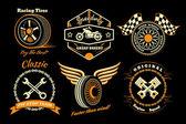 Set of racing badge — Stock Vector