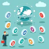 Welt-Business-Finanzen — Stockvektor