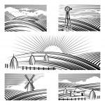Retro rural landscapes — Stock Vector #61684935