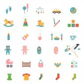 Babies toys icons — Stock Vector