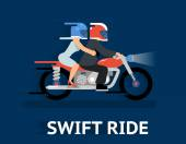 Cartooned Swift Ride Concept Design — Stock Vector