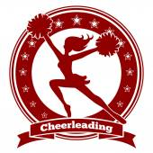 Cheerleader badge or cheer logo — Stockvektor