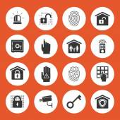 Home security icons — Vettoriale Stock