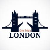 London Bridge Logo — Stock Vector