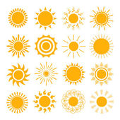 Orange Sun icons — Stock Vector