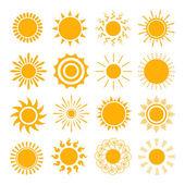 Orange Sun icons — Stock Vector