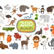 Vector Zoo Animals — Stock Vector #62266559
