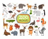 Vector Zoo Animals — Stock Vector