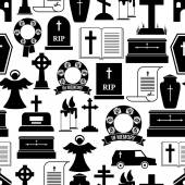 RIP and funeral background pattern — Stock Vector