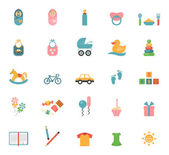 Children toys in flat style — Stock Vector