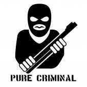 Criminal person logo — Stock Vector