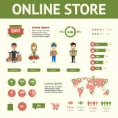 Market and buying infographic elements — 图库矢量图片