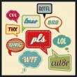 Постер, плакат: Speech bubbles with frequently used abbreviations