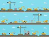 Vector seamless horizontal  background with construction icons — Stockvektor