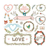 Elements for wedding invitations — ストックベクタ