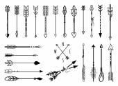 Hand drawn arrows set — Stock Vector