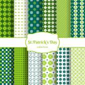St Patricks day seamless patterns — Stock Vector