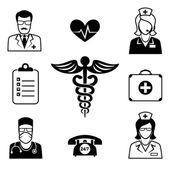 Medical and Health care icons — Stock Vector