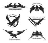 Set of eagle logo — Stok Vektör