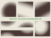 Grunge halftone patterns set — Stock Vector