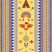 Vector vintage tribal ethnic seamless pattern for business — Stock vektor
