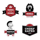 Artes marciales conjunto de logotipo — Vector de stock