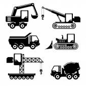 Icons construction — Stock Vector