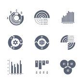 Vector diagrams, charts and graphs — Stock Vector